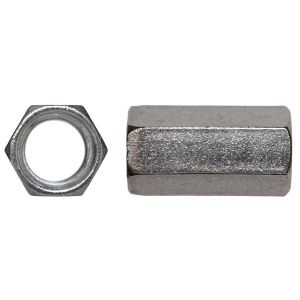 1/4-20 Hex Coupling Nut 18-8 Stainless Steel - 5 pcs per bag