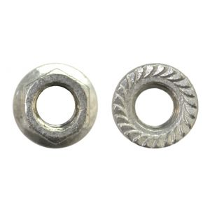 5/8-11 Serrated Hex Flange Nut Hot Dipped Galvanaized - 10 pcs per bag