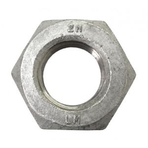 1-8 Heavy Hex Nut A563 Grade DH Hot Dipped Galvanized - 5 pcs per bag